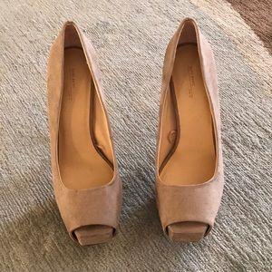 Beautiful Zara heels worn once suede